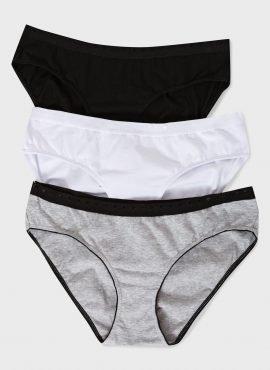 Набор трусов «Пэм» 3 шт. для беременных; белый,черный,серый