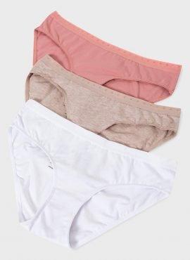 Набор трусов «Пэм» 3 шт. для беременных; белый,бежевый,пудровый