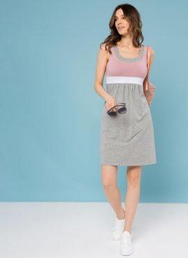 Платье «Делмар» для беременных и кормящих, цвет-пудровый