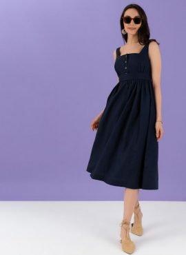 Сарафан «Даника» для беременных, цвет-синий