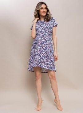 """Ночная сорочка """"Джейн"""" для беременных и кормящих, цвет-цветы"""