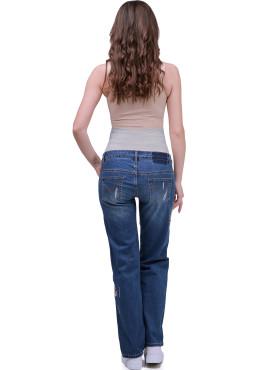 Брюки джинс с вышивкой, цв серый New Form, арт 2116.0058 АС