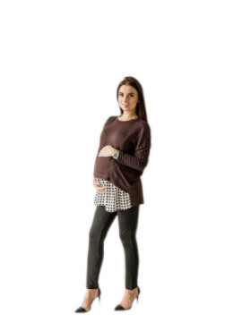 Джемпер, арт 245132, цв-коричневый, Mammy Size.