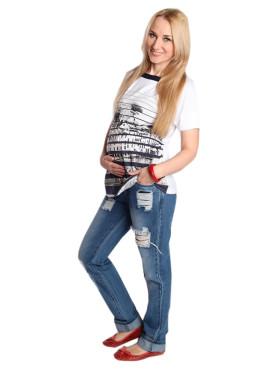 """Супермодные джинсы """"бойфренды"""" прямые, темно-голубые, арт 2112.0046. ТМ New Form"""