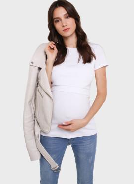 """Футболка """"ВЕСТА"""" для беременных и кормящих,  цв-белый 102526"""