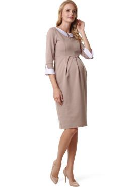 """Платье """"НОЭЛЬ"""" для беременных и кормящих, цвет-кофейный."""