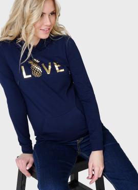 """Лонгслив """"БЭЛЛА"""" для беременных и кормящих, цв:темно-синий, арт-101665"""