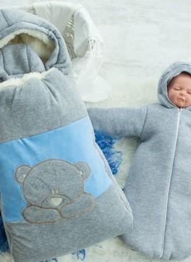 Комплект детский, арт 81.1 велюр,голубой