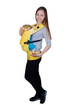Эрго-рюкзаке BiBi Комфорт, желтый