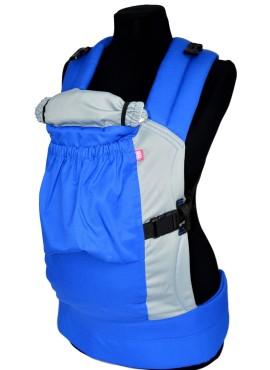 Эрго-рюкзак BiBi-Лайт «Комфорт» 6+ месяцев до 14кг, сине-серый.