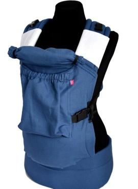 Эрго-рюкзак BiBi (до 18кг), джинс, лен.