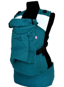 Эрго-рюкзак BiBi (до 18кг), изумруд, лен.