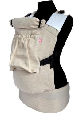Эрго-рюкзак BiBi (до 18кг), песочный, лен.
