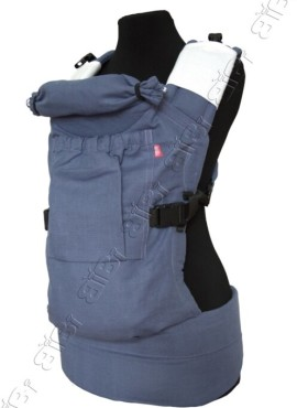 Эрго-рюкзак BiBi (до 18кг), сиреневый, лен.