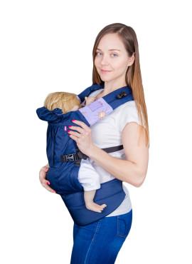 Эрго-рюкзаке BiBi Комфорт, синий
