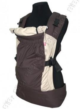 Эрго-рюкзак Bibi-Лайт Классик шоколадно-бежевый до 14 кг.