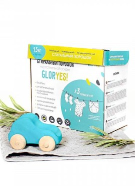 Стиральный экопорошок GlorYes, без запаха, 1,5 кг.