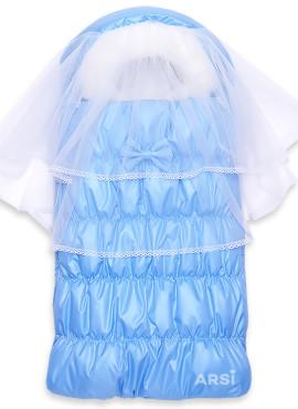 """Конверт с вуалью зима """"Венеция"""" ТМ ARSI, голубой, арт 1214Г"""
