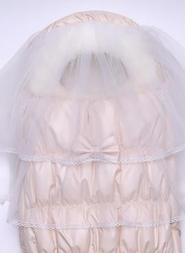 """Конверт с вуалью зима """"Венеция"""" ТМ ARSI, кремовый, арт 1214К"""