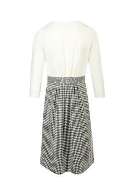 Платье, арт.5021141, цв- белый/гусиная лапка