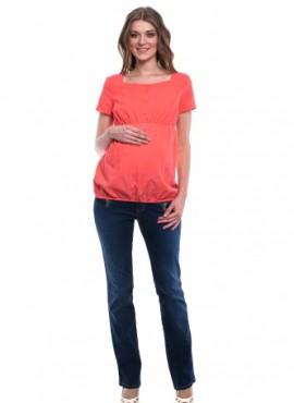 Блузка с рукавами-фонариками и пуговичками для беременных,арт  6187.4070